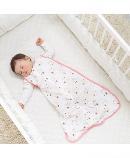 Pink Muslin Cotton Baby Thin Slumber Sleeping Bag