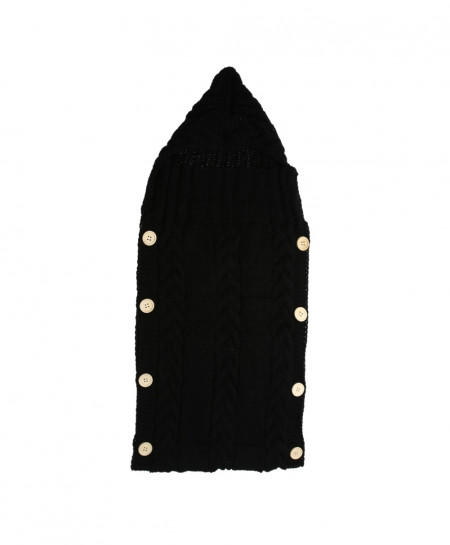 Black Wrap Warm Wool Crochet Knitted Sleeping Bag