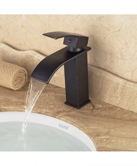 Black Orb 3 Basin Vanity Single Handle Sink Faucet