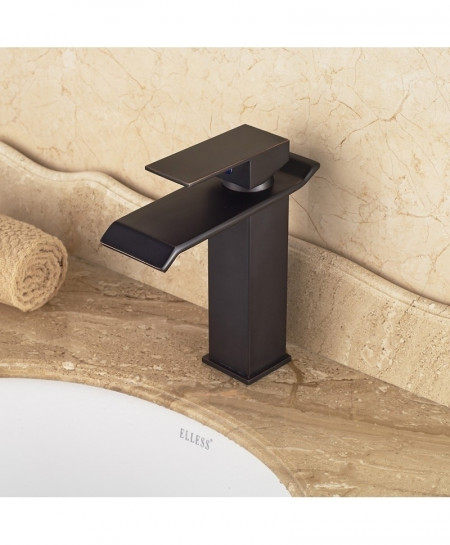 Black Orb Basin Vanity Single Handle Sink Faucet