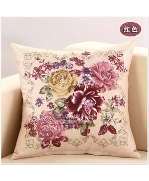 Pack of 3 Classical Flower Pillow Covers Set 3