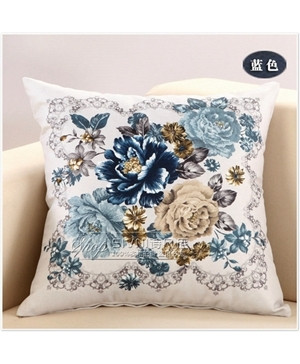 Pack of 3 Classical Flower Pillow Covers Set 4