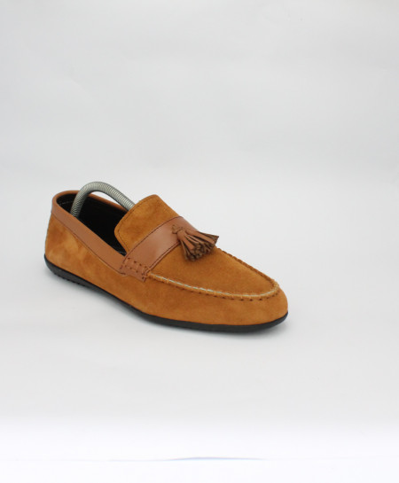 Corio Mustard Suede Leather Loafer Shoes CSR-DM-03