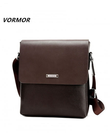 VORMOR Brown Designers PU Leather Shoulder Crossbody Bag