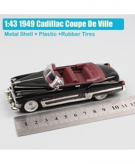 Black Luxury Small 1949 Cadillac Coupe Convertible Metal Classic Diecast Car