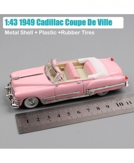 Pink Luxury Small 1949 Cadillac Coupe Convertible Metal Classic Diecast Car