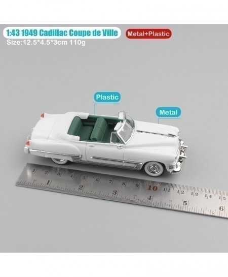 White Luxury Small 1949 Cadillac Coupe Convertible Metal Classic Diecast Car
