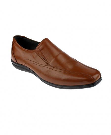 Brown Casual Slip On Leather Shoes LC-317