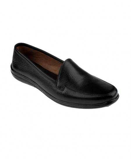 Black Casual Slip On Leather Shoes LC-318