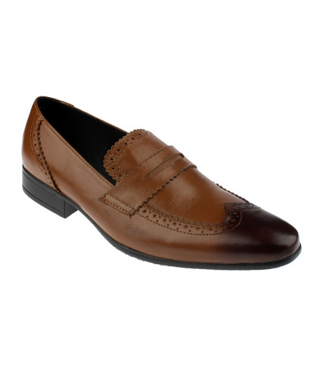 Brown Shaded Leather Brogue Formal Shoes LC-320