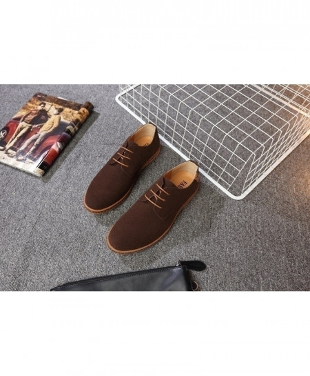 Reetene Choco Brown Flock Comfortable Casual Shoes