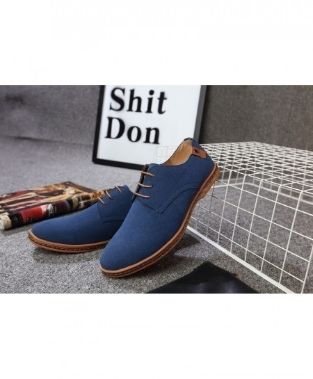 Reetene Blue Flock Comfortable Casual Shoes