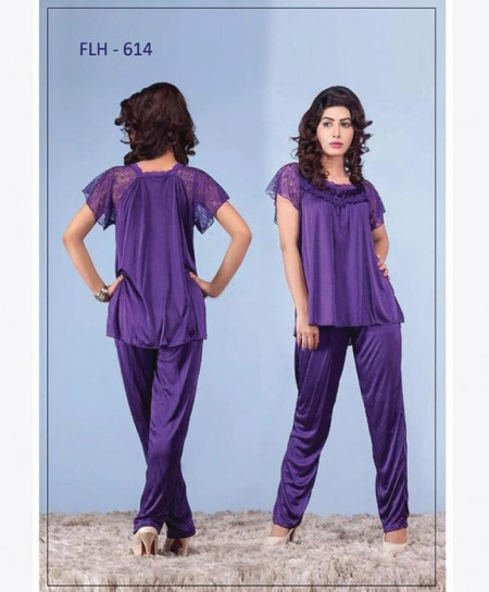Buy Purple Flourish Exclusive Bridal Nighty Set OM-5185 online in ... eab80c8f5