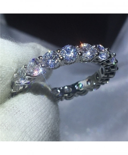 Zircon Infinity Jewelry Female 925 Sterling Silver Ring