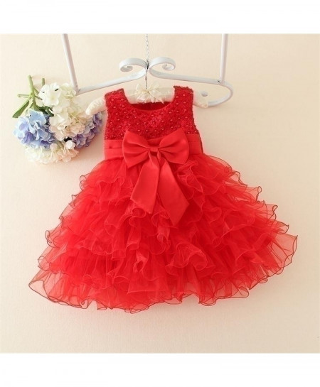 Red Flower Lace Dress