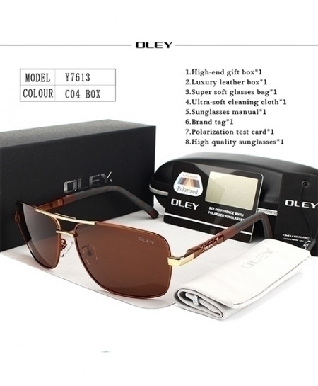 OLEY Red Polarized Sunglasses