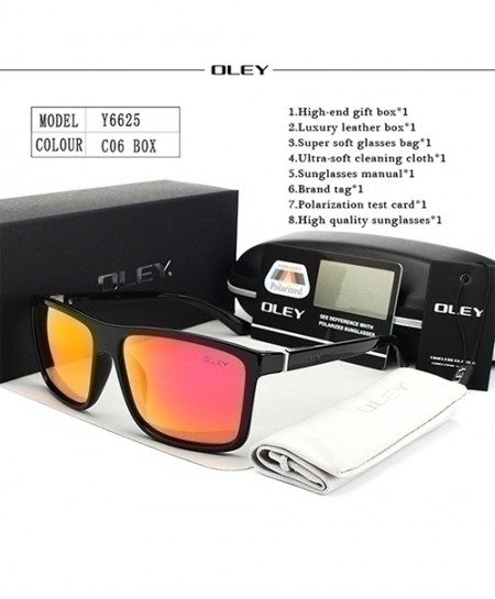 OLEY Gradient Shades HD Polarized Square Designer Black Sunglasses