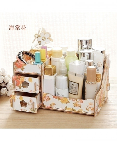 Tea Flowers Multi-Function Table Sundries Container Storage Box