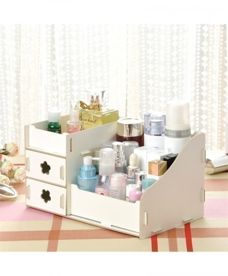 White Multi-Function Table Sundries Container Storage Box