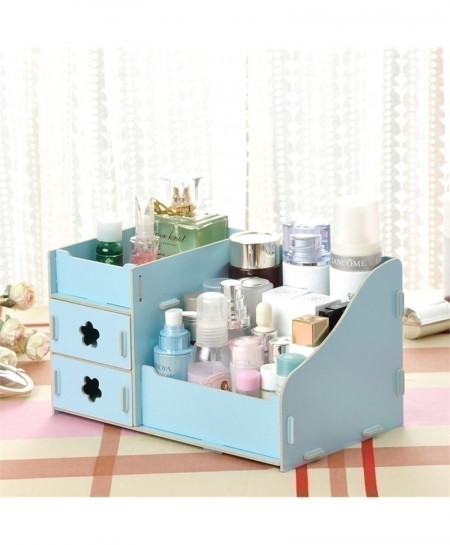 Blue Multi-Function Table Sundries Container Storage Box