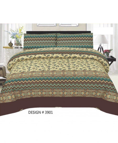 MultiColor Floral Cotton Bedsheet PBS-3901