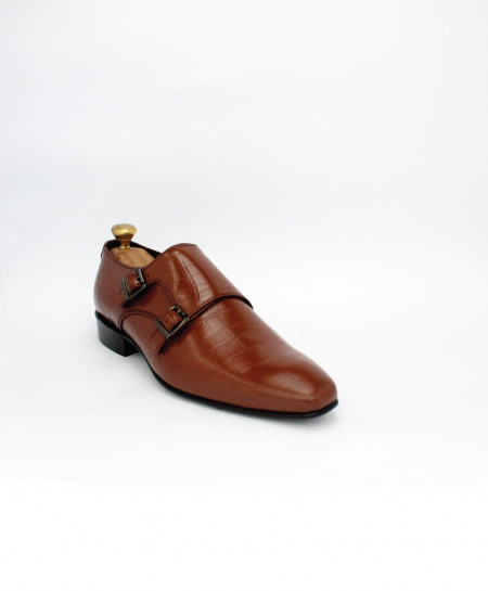 Corio Mustard Double Monk Leather Shoes CSO-JC-198