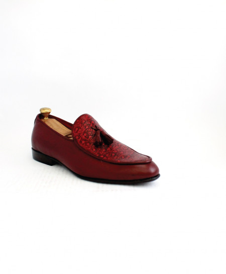 Corio Burgundy Leather Tassel up Loafer CSO-JC-204