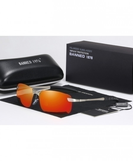 BANNED 1976 Orange Shades Polarized Sunglasses