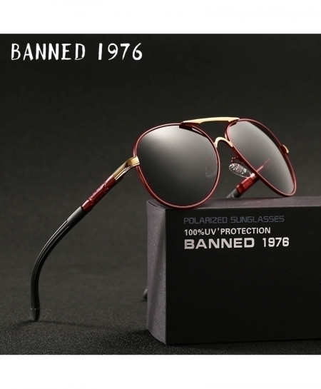 BANNED 1976 Red Aluminum HD Polarized Sunglasses