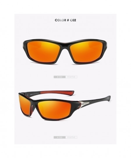 DUBERY Orange Shade Polarized Sunglasses