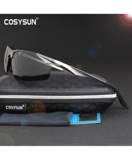 Black Rim Aluminum Magnesium Polarized Sunglasses