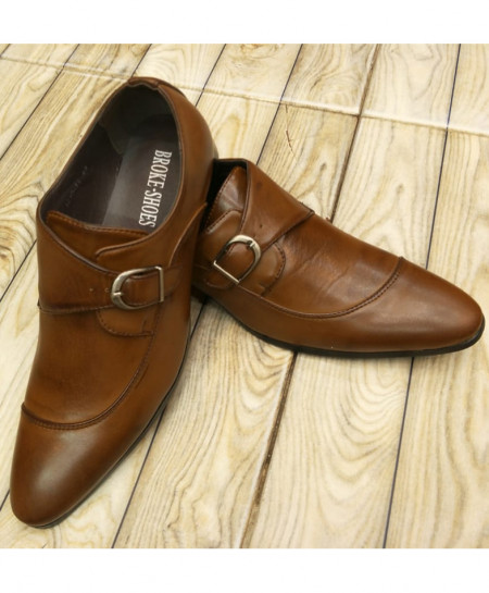 Brown Buckle Style Formal Shoes LW-7091