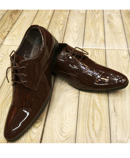 Choco Brown Plain Formal Shoes LW-7099