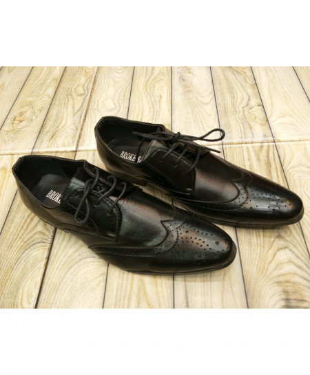 Black Breathable Formal Shoes LW-7104