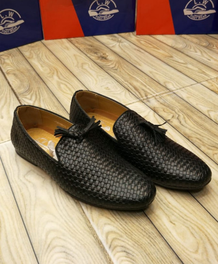 Black Slip On Loafers LW-7114