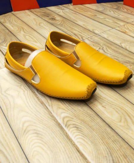 Yellow Stylish Slip On Loafers LW-7115