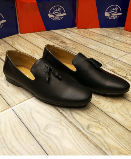 Black Bow Knotted Stylish Loafers LW-7132