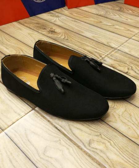 Black Bow Knotted Style Loafers LW-7135
