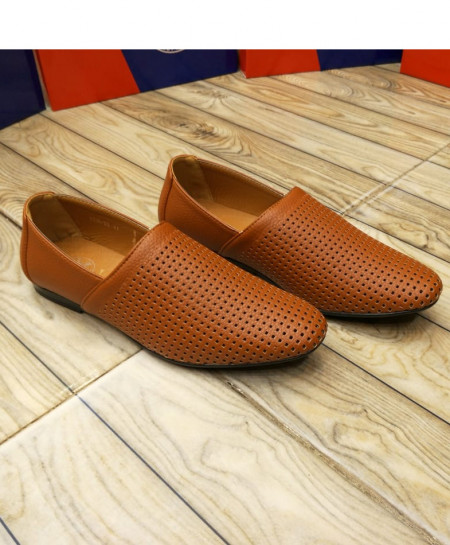 Brown Breathable Slip On Stylish Loafers LW-7138