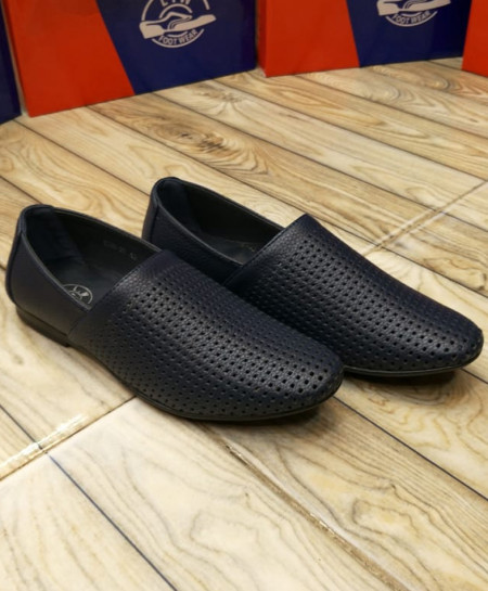 Navy Breathable Slip On Stylish Loafers LW-7140