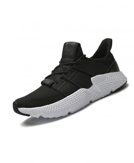 BomKinta Black White Fly Weaving Casual Damping Breathable Shoes