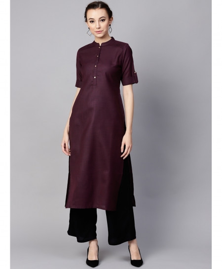 Indigo Pleated Shoulder Style Ladies Kurti ALK-151