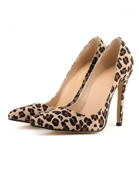 Leopard Print High Heels Pointed Toes Pumps Shoes