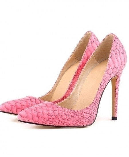 Pink Leopard High Heels Pointed Toes Pumps Shoes