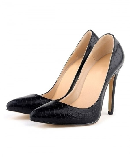 Black Leopard High Heels Pointed Toes Pumps Shoes