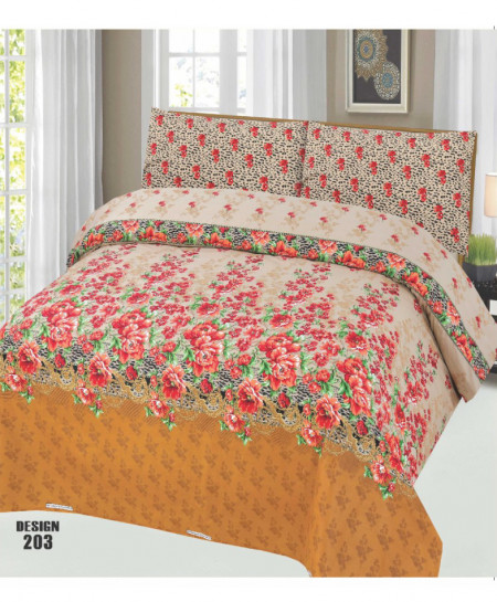 MultiColor Floral Cotton Bedsheet PBS-SO-203