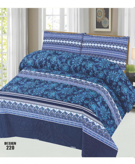Blue Floral Cotton Bedsheet PBS-SO-220