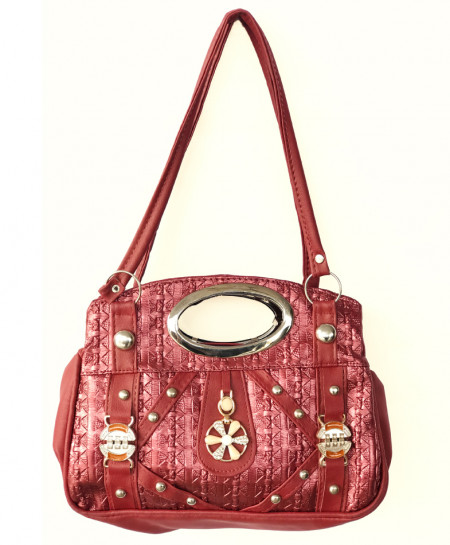 Red Fancy Ladies Handbag SPK-163