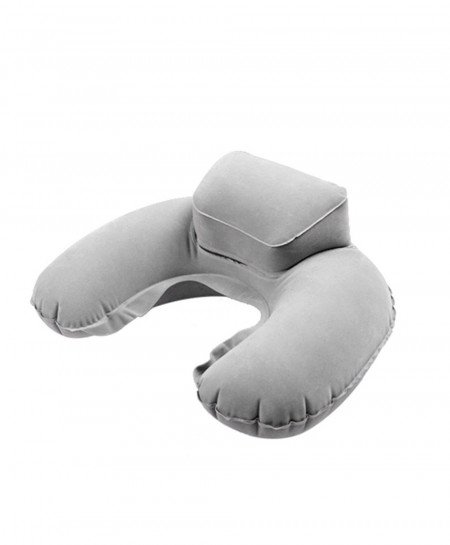 Pack of 3 Gray Portable Travel Inflatable Neck U Shape Pillow