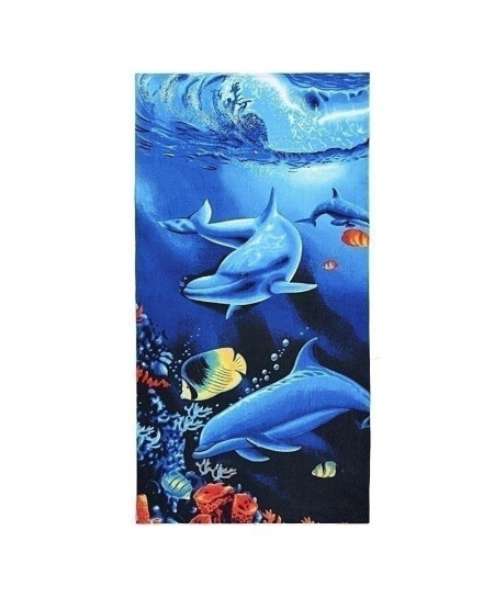 Dolphins Marine Life Beach Microfiber Absorbent Printed Bath Towel